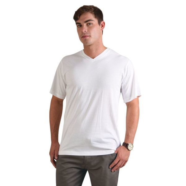 Combed Cotton V-neck T-shirt