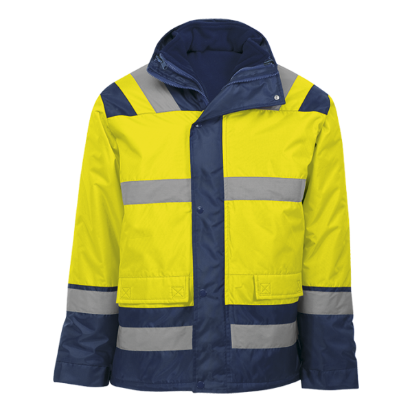 Blaze 4-in-1 Jacket safety yellow-navy