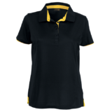 Ladies Baxter Golfer black-yellow