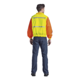 Contract Long Sleeve Reflective Vest back