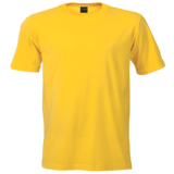 160g Crew Neck Barron T-shirt Yellow